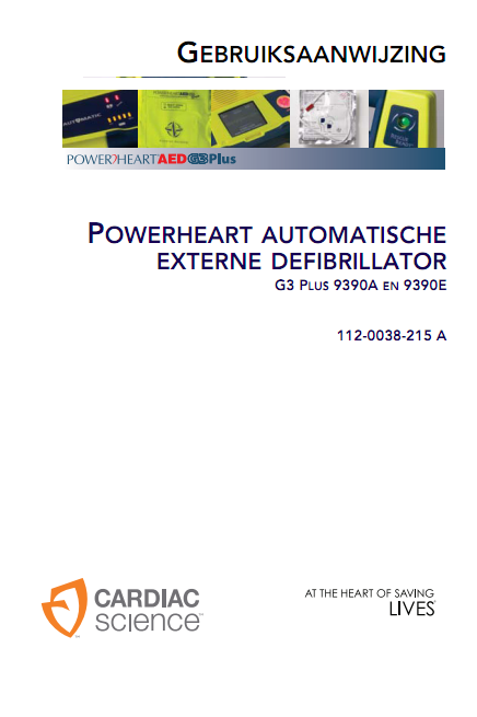 Handleiding Cardiac Science Powerheart G3 semi-automaat PLUS