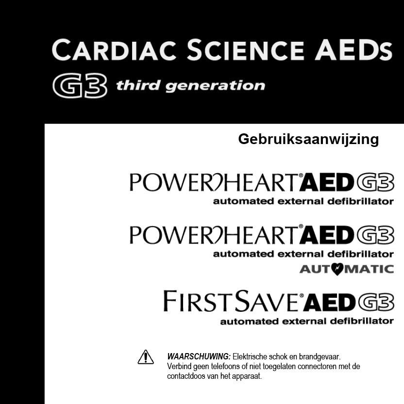 Handleiding Cardiac Science Powerheart G3 vol-automaat AED