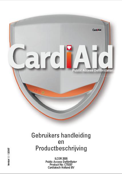 handleiding Cardiaid CT0207 AED