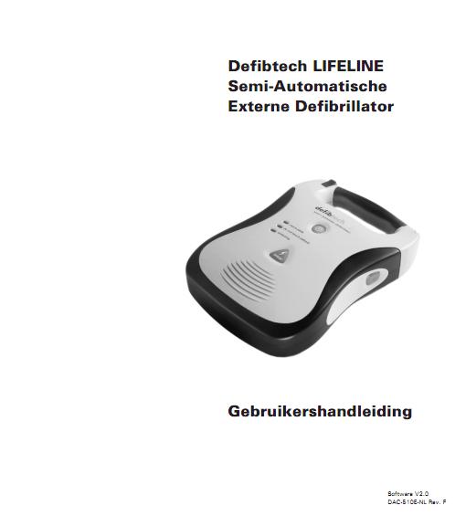 Handleiding Defibtech Lifeline AED