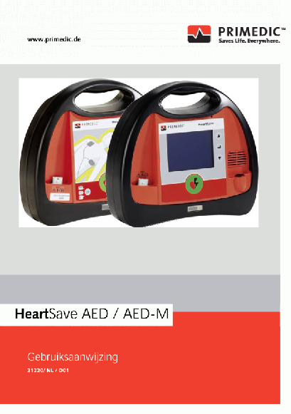 Handleiding Primedic HeartSave AED