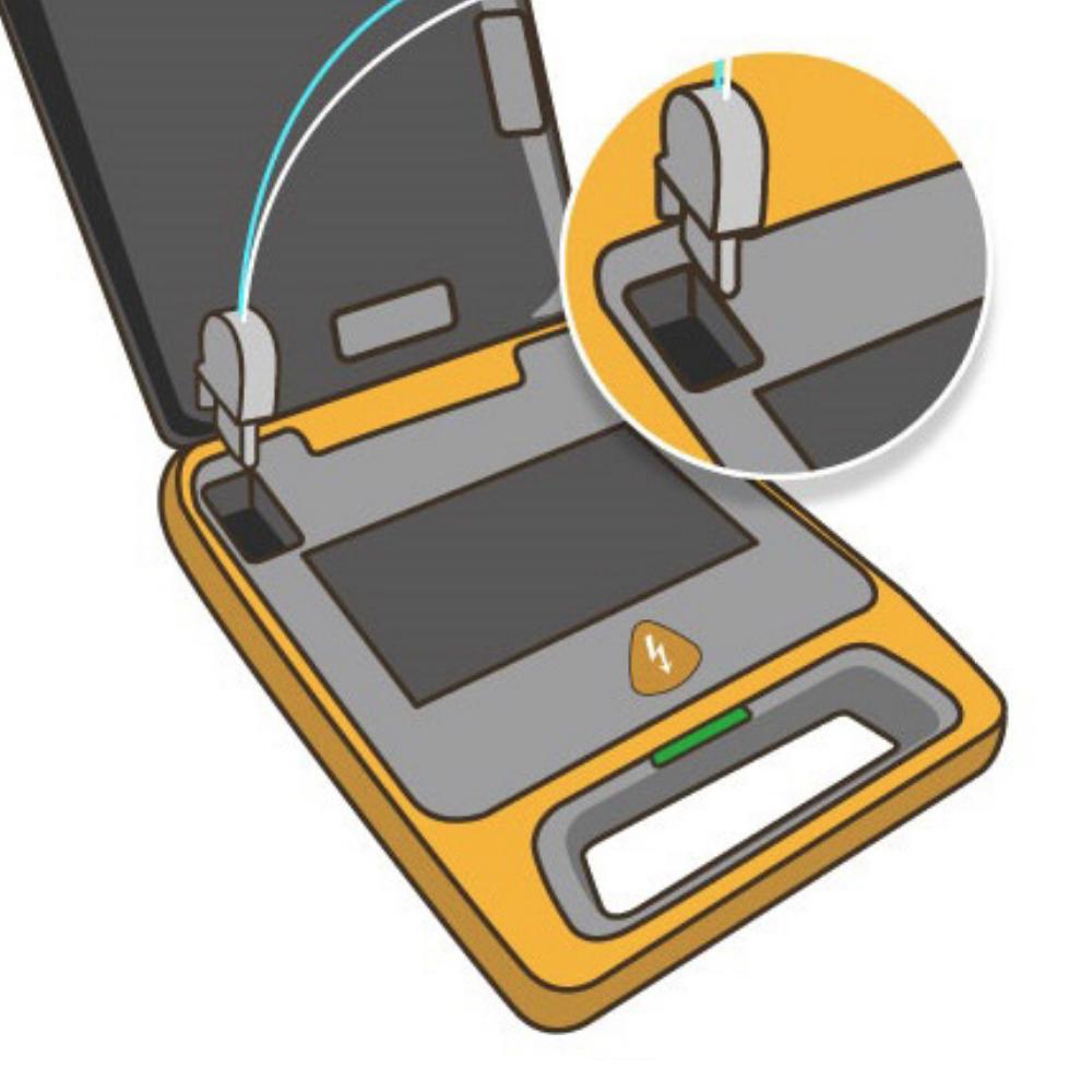 Aansluiten plaatsen Mindray BeneHeart C1A & C2 AED elektroden MR62