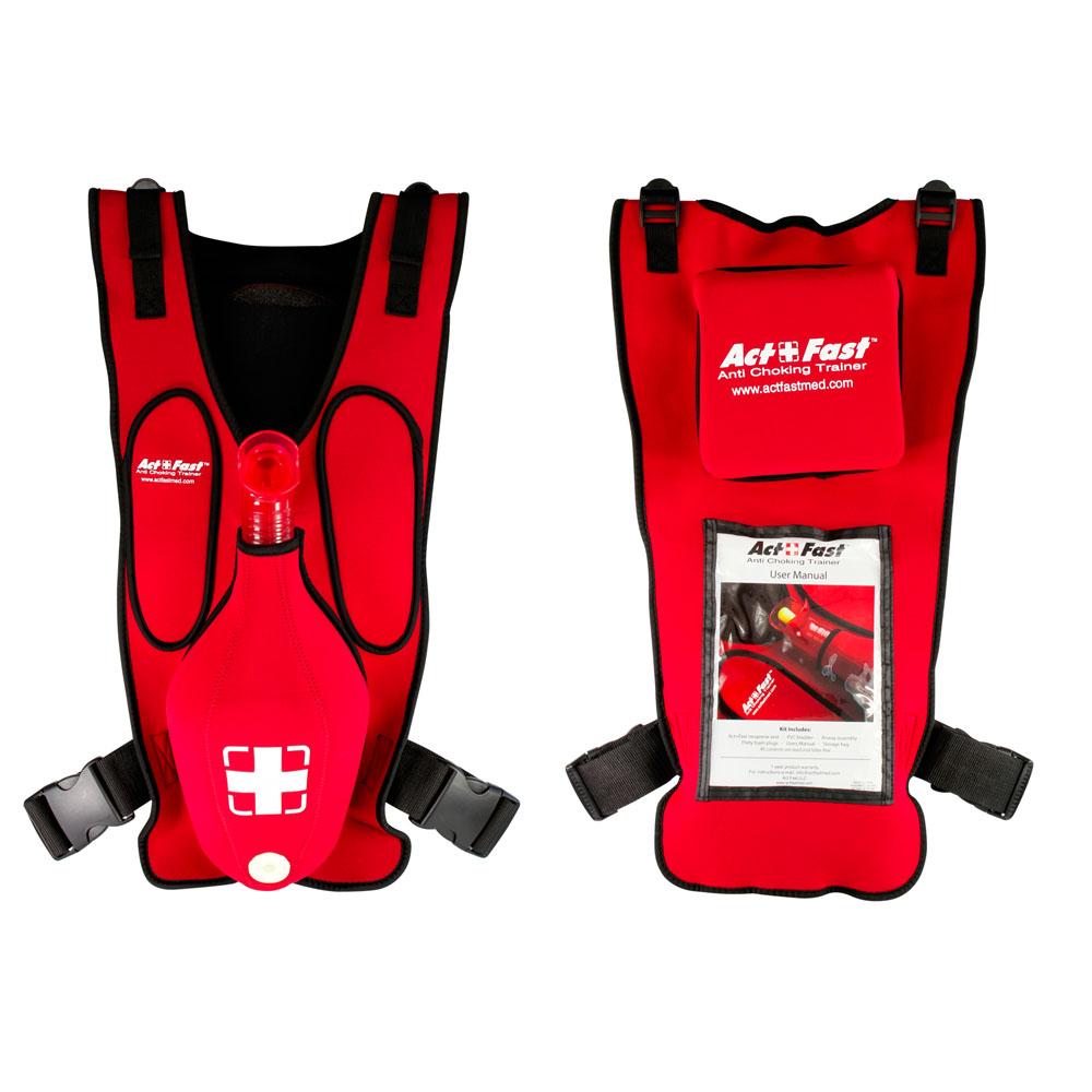 Act Fast Ant-verstikkingstrainer volwassenen voor en achterkant AFM-AF-101R