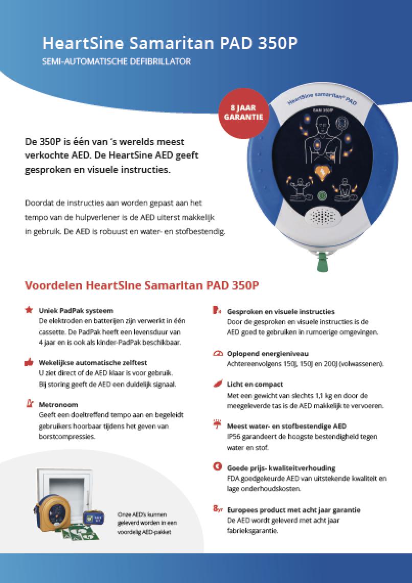 Brochure HeartSine Samaritan PAD 350P AED