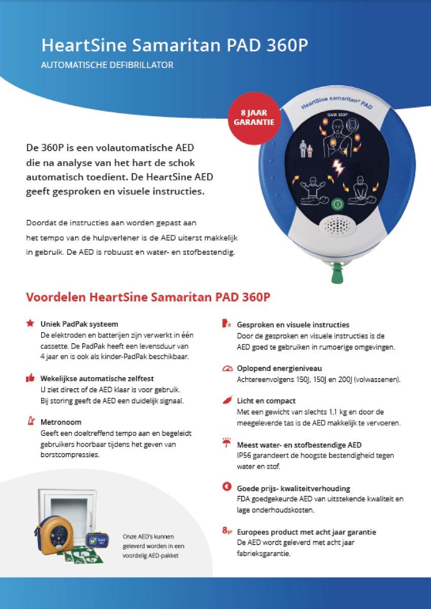 Brochure HeartSine Samaritan PAD 360P AED