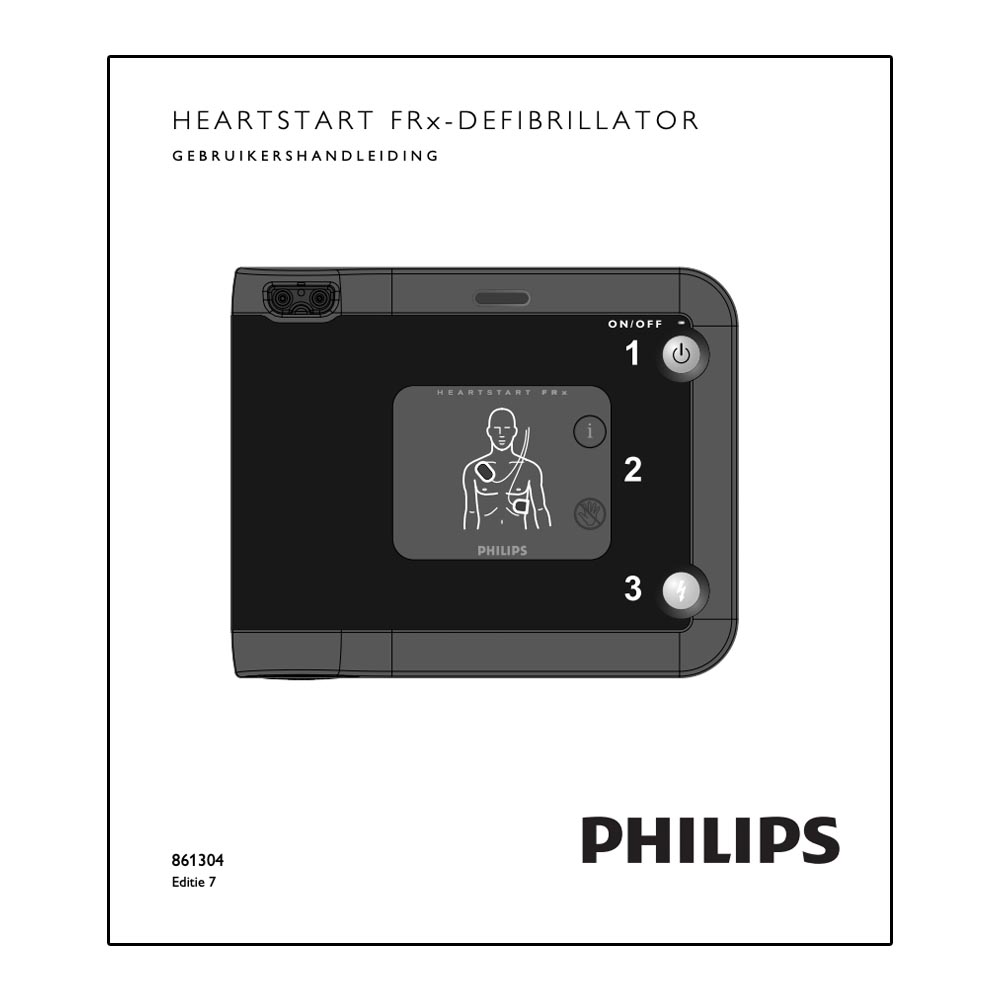 Handleiding Philips HeartStart FRx AED 861304 DOWNLOAD