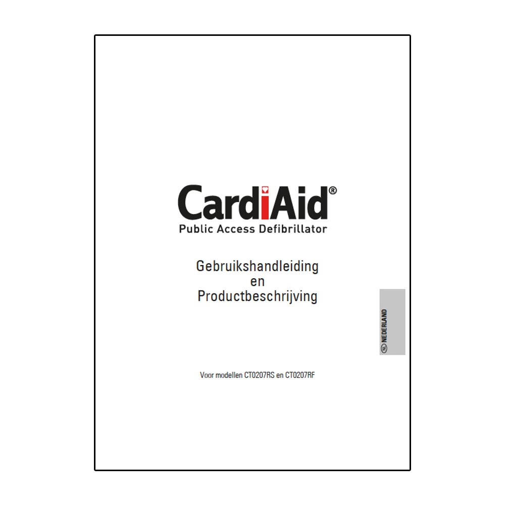 Handleiding CardiAid CT0207RS & CT0207RF AED