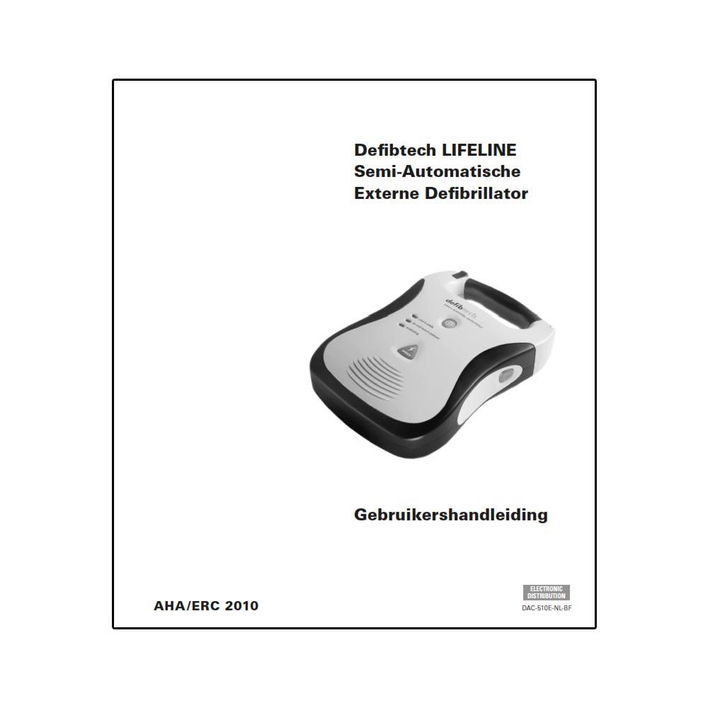 Handleiding Defibtech Lifeline Semi-Automatische AED gebruikershandleiding