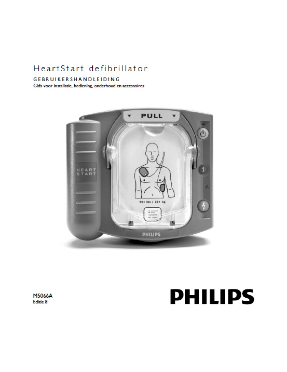 Handleiding Philips HeartStart HS1 AED M5066A (DOWNLOAD)