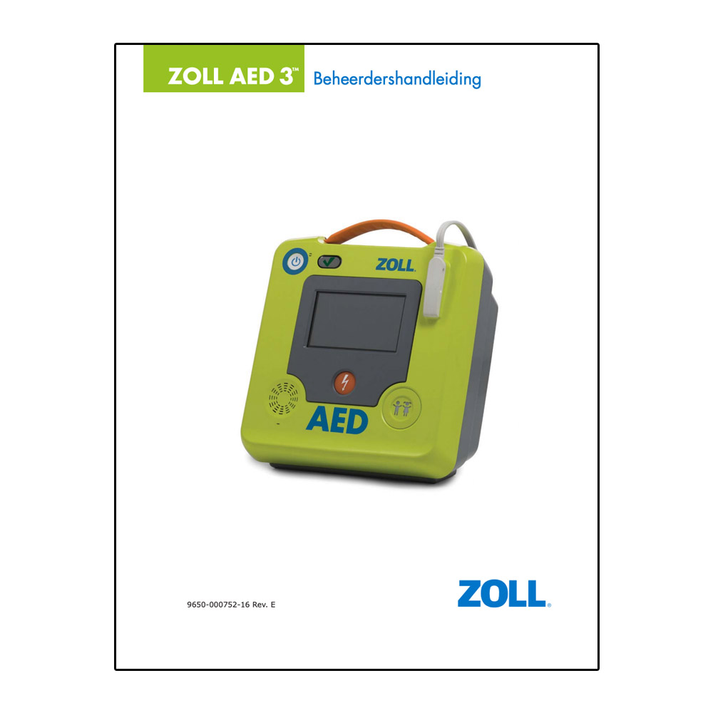 Handleiding ZOLL AED 3