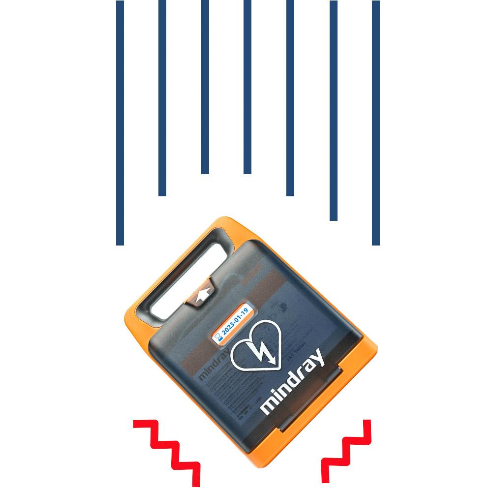 MINDRAY BeneHeart C2 AED met beeldscherm valbestendig robuust