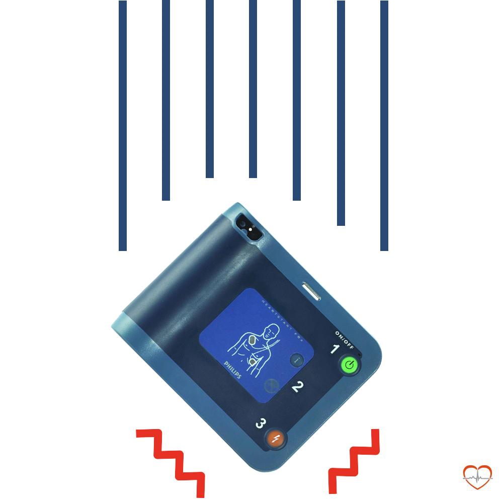 Philips HeartStart FRx AED REF 861304ABH robuust valbestendig