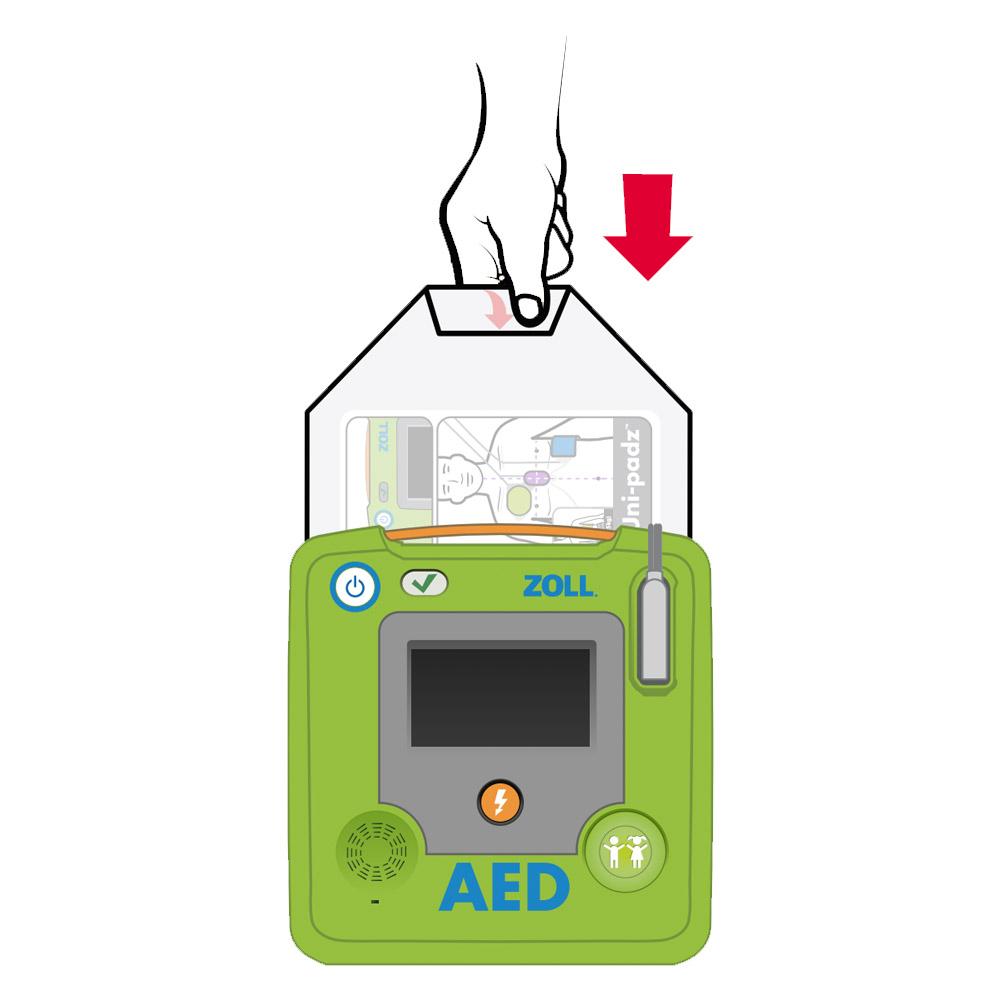Plaatsen Zoll CPR Uni-Padz AED elektroden REF 8900-000260